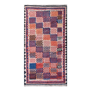 """Antique Persian Gabbeh Rug 4'6"""" X 8'3"""" For Sale"""
