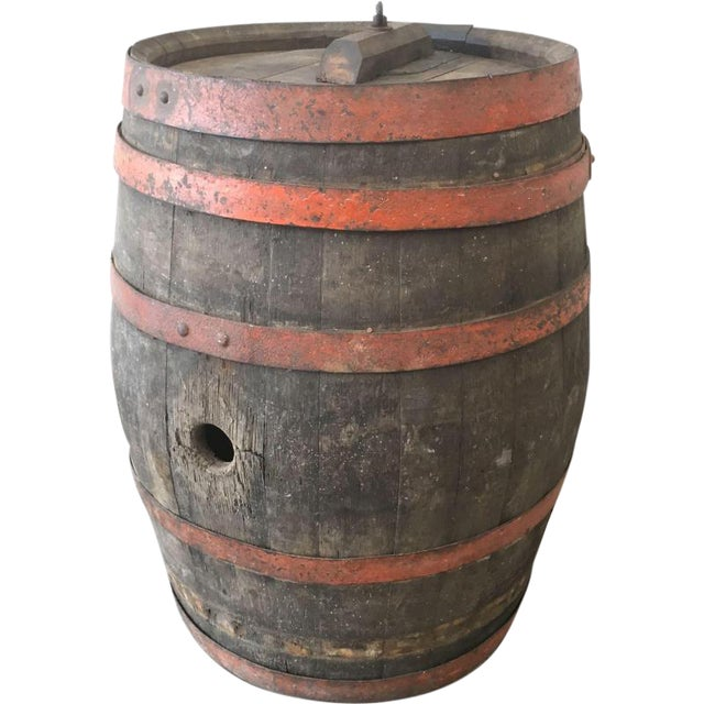 French Antique Wine Barrel Vineyard Decor Chairish