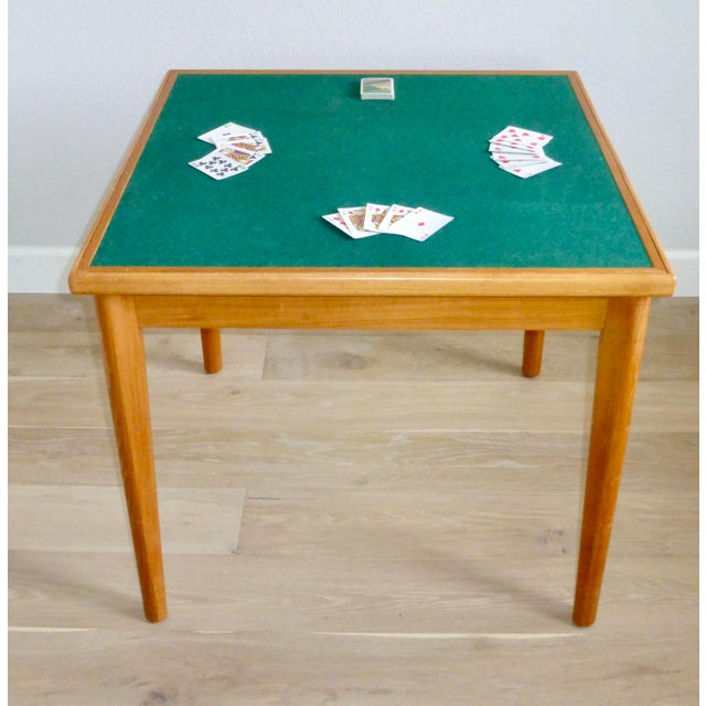 Mid-Century Modern Mid Century Danish Modern Brdr Furbo Denmark Square Teak Game Table For Sale - Image 3 of 12