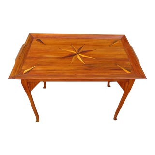 19th Century Jamaican Regency Yucca Tray Table with Exotic Specimen Compass For Sale