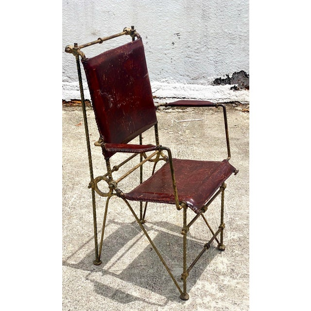 Cinnamon Vintage Brutalist Sculpted Rebar Dining Chairs in the Manner of Ilana Goor - Set of 6 For Sale - Image 8 of 13