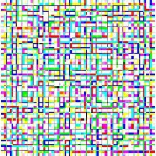Suga Lane - Untitled 3055-349 Limited Edition Geometric Print For Sale