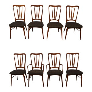 Niels Koefoed for Koefoeds Hornslet Danish Modern Teak Dining Chairs- Set of 8 For Sale