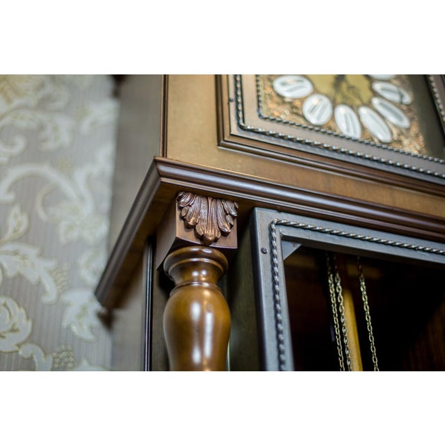 20th Century Tempus Fugit Grandfather Clock with a Chime For Sale - Image 12 of 13