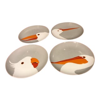 """Birds of a Feather"" Cocktail Plates - Set of 4 For Sale"