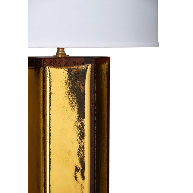 Alberto Donà Gold Leaf and Amber Murano Glass Lamps For Sale - Image 4 of 10