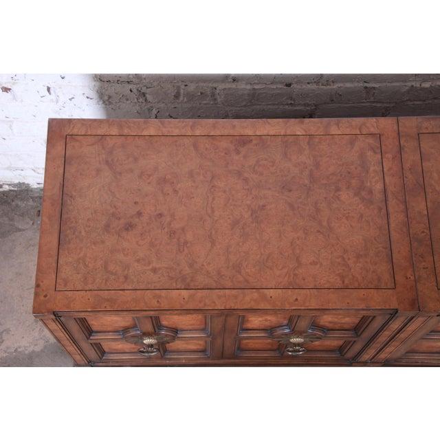 Mastercraft Burl Wood Sideboard For Sale - Image 9 of 13