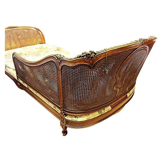 19th-C. French Caned Recamier For Sale - Image 5 of 7