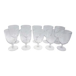 Noritake Sasaki Multi-Sided Stem Wine Glass Goblets - Set of 10