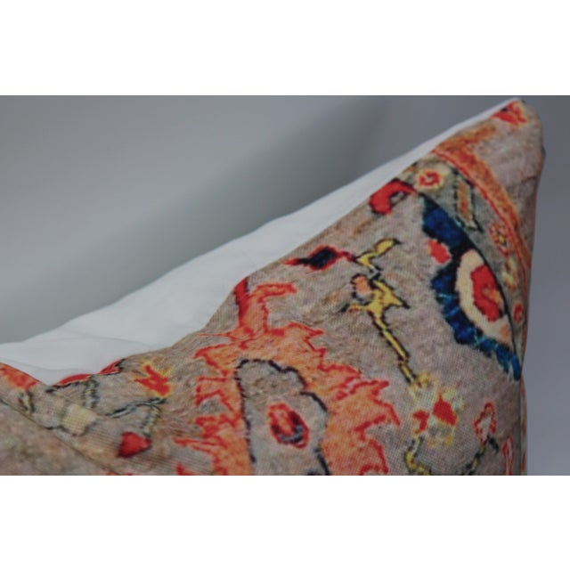 Multi-Colored Rug Print Pillow Covers - A Pair - Image 7 of 7