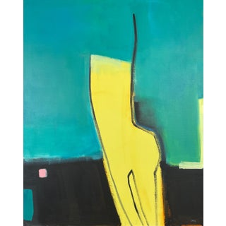 """""""Existential Girlfriend"""" Contemporary Abstract Acrylic Painting by Carolyn Reed Barritt For Sale"""