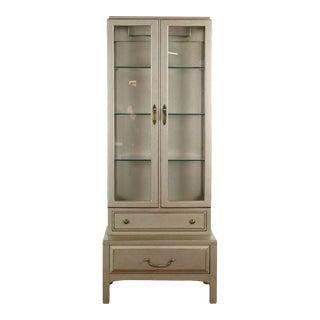 Vintage Davis Cabinet Company Display Cabinet For Sale