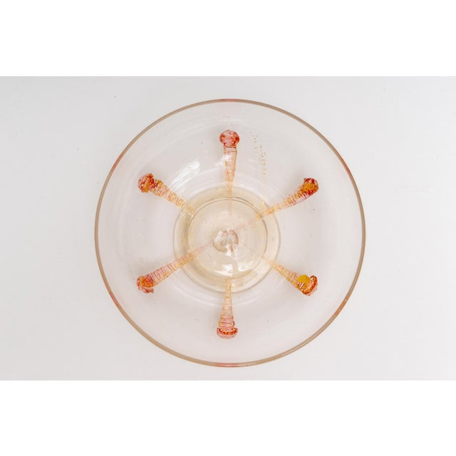 Glass 1930s Barovier E Toso Murano Glass Bonbonniere Candy Dish For Sale - Image 7 of 9