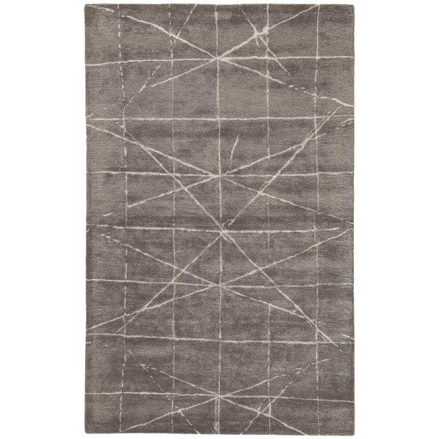 Jaipur Living Duval Handmade Geometric Dark Gray/ Silver Area Rug - 5' X 8' For Sale In Atlanta - Image 6 of 6