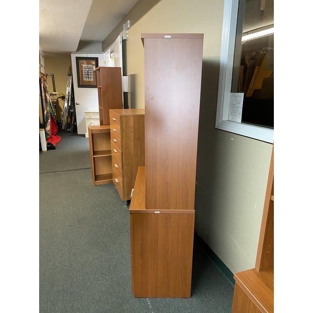 Metal L. P. Danish Office Adjustable Bookshelf + Double Filing Cabinet For Sale - Image 7 of 13