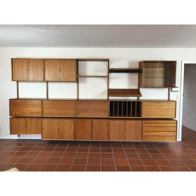 "1960s Danish Poul Cadovius ""System Cado"" Teak Floating Modular Wall Shelf System For Sale - Image 13 of 13"