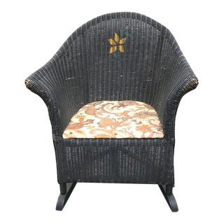 Vintage Child's Wicker Rocking Chair For Sale