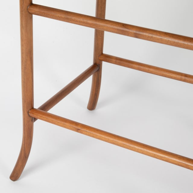 Walnut Nesting Tables Inspired by T.H. Robsjohn-Gibbings, Circa 1990s - a Pair For Sale - Image 10 of 13