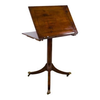 19th C. French Walnut Tilt Top Table Music Stand For Sale