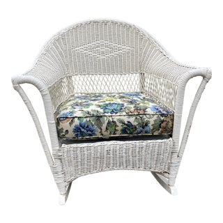 Vintage Heywood Wakefield Wicker Rocker For Sale