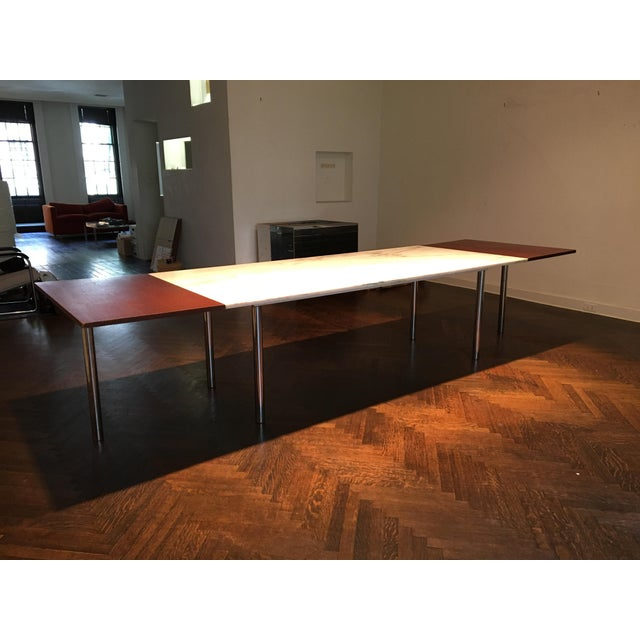 Elaine Lustig Cohen Marble Extension Dining Table For Sale - Image 9 of 9
