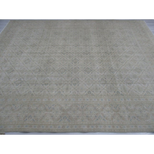 Mid-Century Modern Washed Out Persian Tabriz Rug - 9′10″ × 12′6″ For Sale - Image 3 of 6