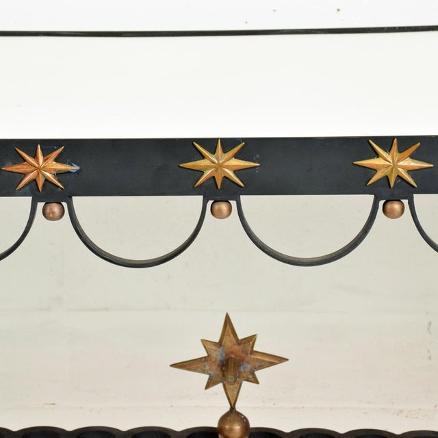 1950s Mid Century French Modernist Star Dining Table After Gilbert Poillerat For Sale - Image 5 of 10