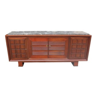 Maxime Old French Art Deco Mahogany Sideboard or Buffet 1940s For Sale