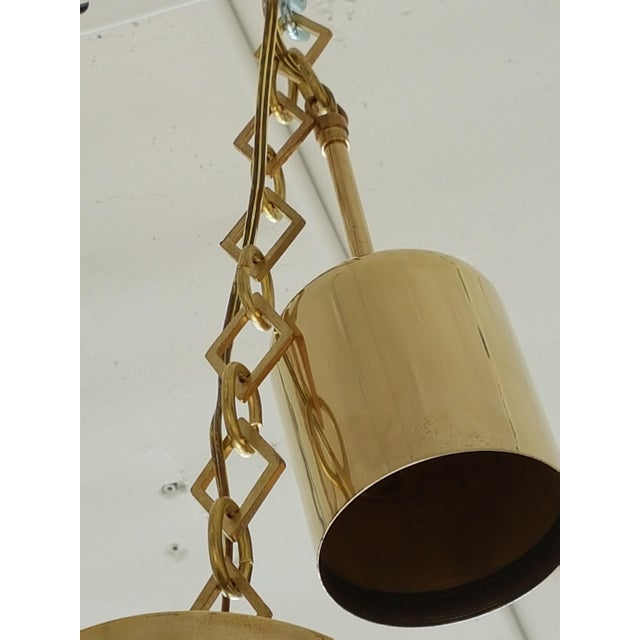 Caccia Dominioni Pair of Mid Century Modern Italian Glass Pendants, Dominioni for Azucena, 1960s For Sale - Image 4 of 5