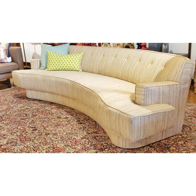 Wood Mid-Century Modern Harvey Probber Custom Curved Sofa For Sale - Image 7 of 9