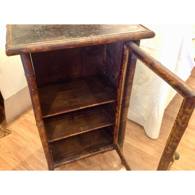 19th Century English Bamboo Cabinet For Sale - Image 4 of 13