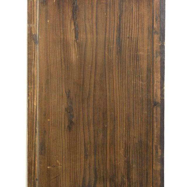 Early 20th Century Japanese Itado Cedar Wooden Door For Sale - Image 5 of 9