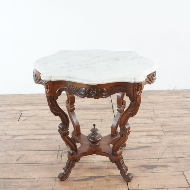 Victorian Marble Top End Table Chairish