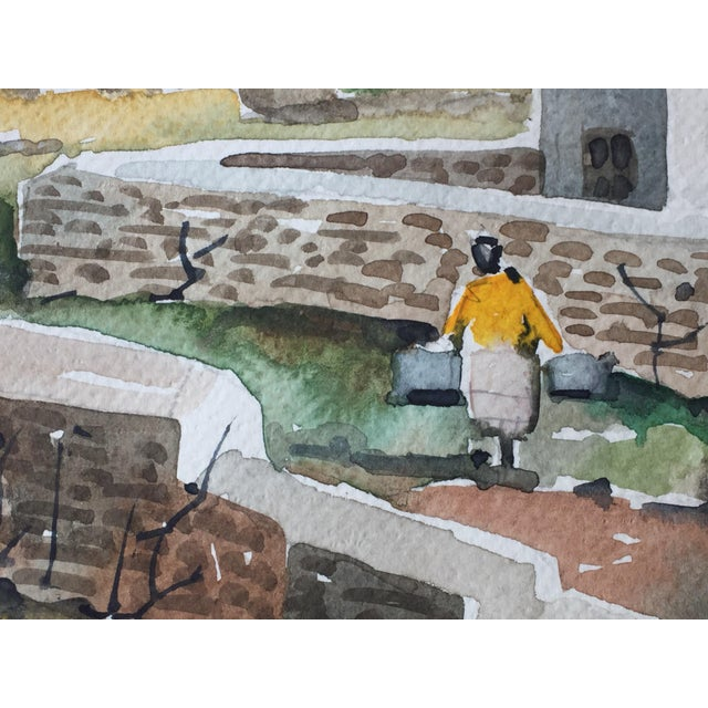 Sofianos 1970s Greek Watercolor Painting - Image 4 of 6