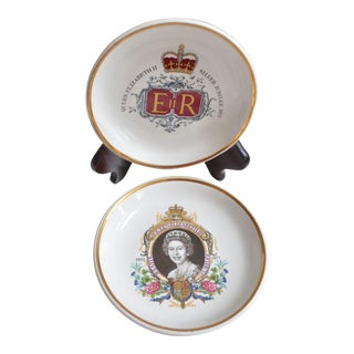Queen Elizabeth II Jubilee Dishes - a Pair For Sale