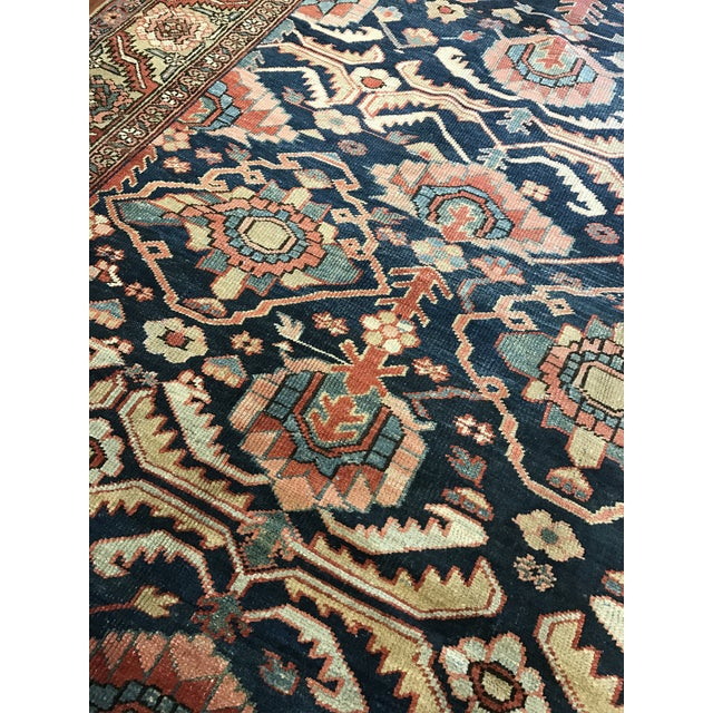 Early 20th Century Antique Persian Heriz Carpet For Sale - Image 5 of 5