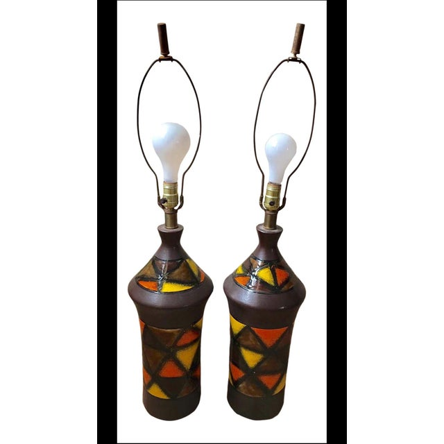 1960s Aldo Londi for Bitossi Lamps - a Pair For Sale - Image 6 of 6