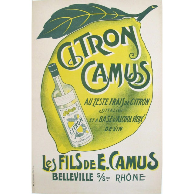 French Vintage Alcohol Ad, Citron Camus - Image 2 of 5
