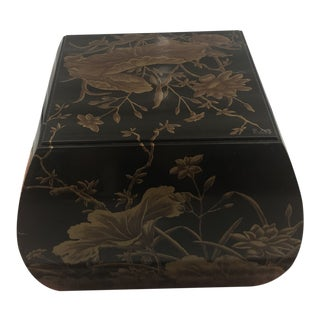 Chinoiserie Drexel Heritage Hand-Painted Side Table For Sale