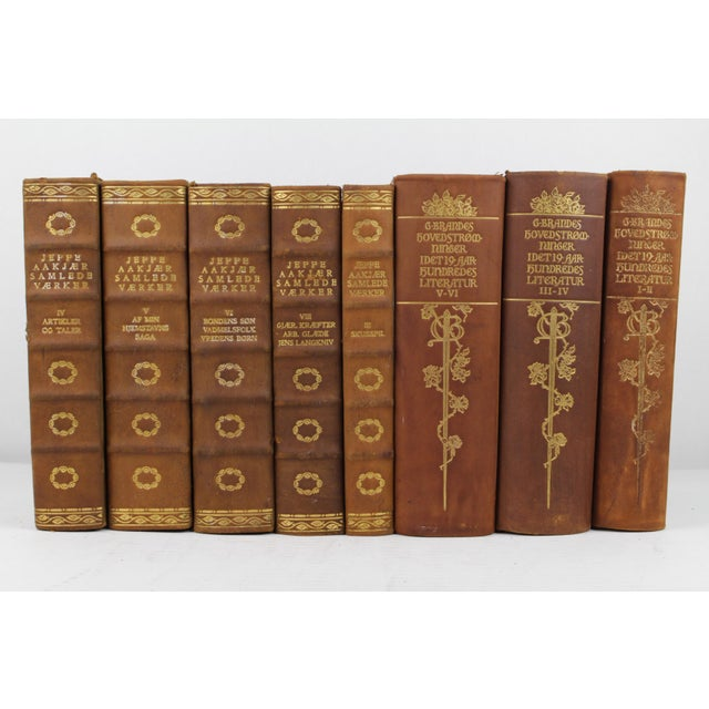 Art Deco Leather-Bound Books - Set of 8 - Image 2 of 3