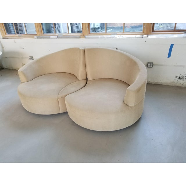 Vladimir Kagan 2 Piece Swivel Loveseat - Image 6 of 6
