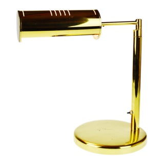 Vintage Brass Swing Arm Bankers Desk Lamp For Sale