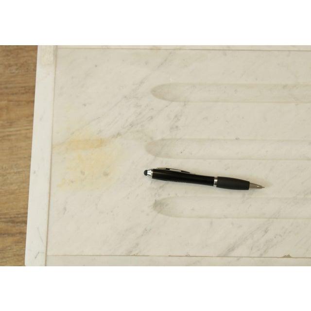 "White Italian Carrara Marble 56"" Column Pedestal For Sale - Image 8 of 13"