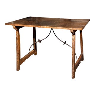 17th Century Spanish Trestle Table For Sale