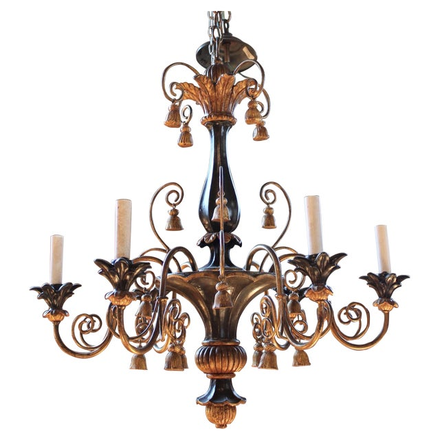 Antique Italian Gilt-Wood Chandelier - Image 1 of 5