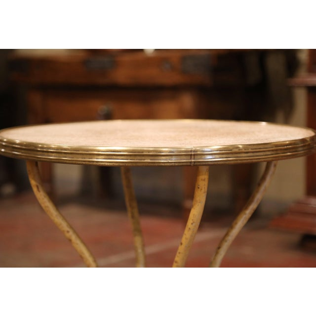 19th Century Napoleon III French Iron and Wood Gueridon Pedestal Table For Sale - Image 4 of 8