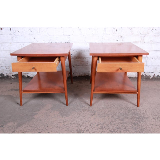 Paul McCobb Planner Group Mid-Century Modern Nightstands or End Tables - a Pair For Sale In South Bend - Image 6 of 13