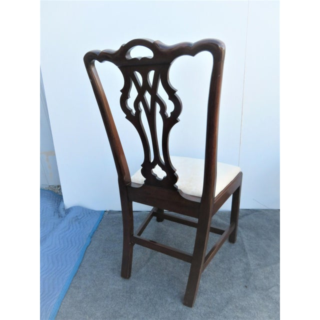 chairs dining room chairs | Statton Old Towne Chippendale Cherry Dining Chairs - Set ...
