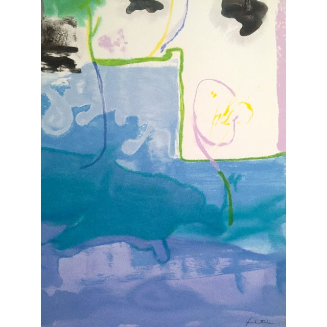 "Helen Frankenthaler Rare Lmt Edtn Hand Pulled Original Silkscreen Print "" West Wind "" 1996 For Sale - Image 10 of 13"