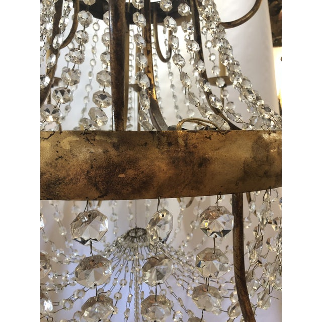 Vintage French Gilt and Crystal 24 Arm Chandelier For Sale - Image 10 of 13